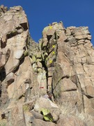 Rock Climbing Photo: Here it is with the rope clipped in and the bolts ...