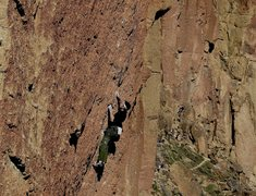 Rock Climbing Photo: below the crux