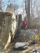 Rock Climbing Photo: View of the 3 boulders.