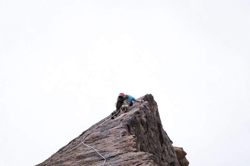 Working up the Arete