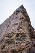 Rock Climbing Photo: Its a long but easy way up to the first bolt.