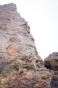 Rock Climbing Photo: The route is sort of visible by previously placed ...
