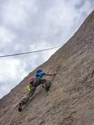 Rock Climbing Photo: Heading up the face with a water and a camera to s...