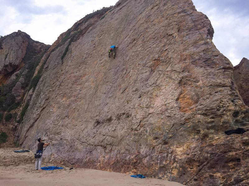 Rock Climbing Photo: Climbing on Center (5.8) with a second station set...