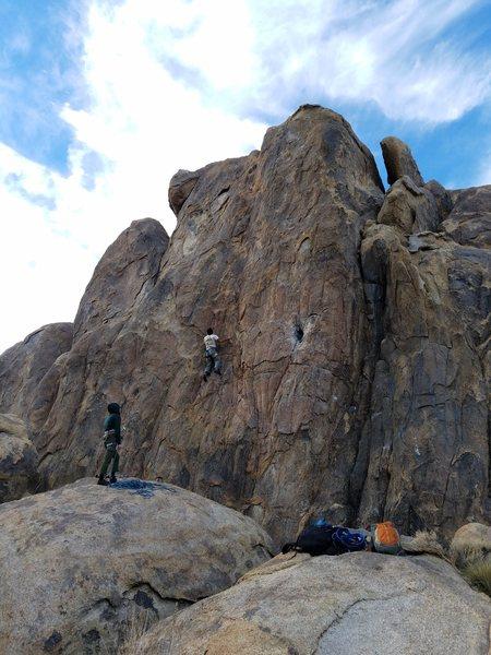"""Rock Climbing Photo: Darren """"Lost in Space"""", again."""