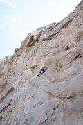 Rock Climbing Photo: Just reaching the anchor of Whammy Play - pretty n...