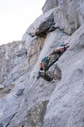 Rock Climbing Photo: Overcoming the early crux of House of Cards.