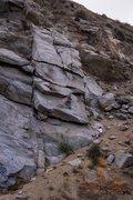 Rock Climbing Photo: Victim of Gravity drawn to scale.