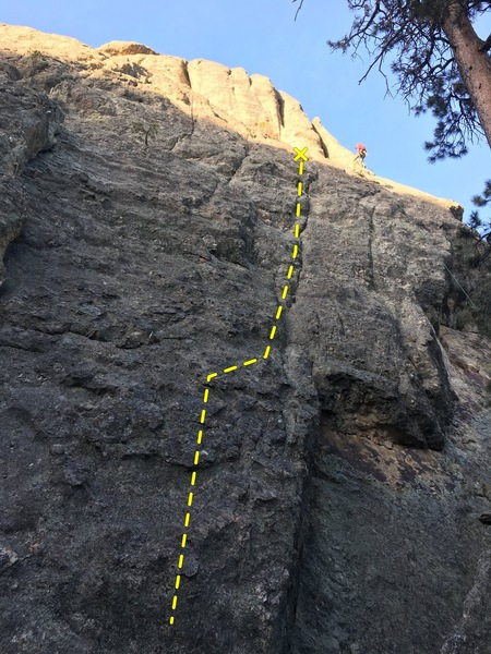 Rock Climbing Photo: Right leaning finger crack