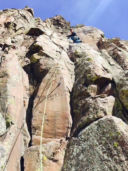 Rock Climbing Photo: Mark on the climb.
