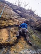 Rock Climbing Photo: I hope this is the correct route, just right if Bl...