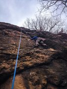 Rock Climbing Photo: Movin' and groovin' on up.