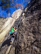 Rock Climbing Photo: The good Lord gave you all the pro you need, right...
