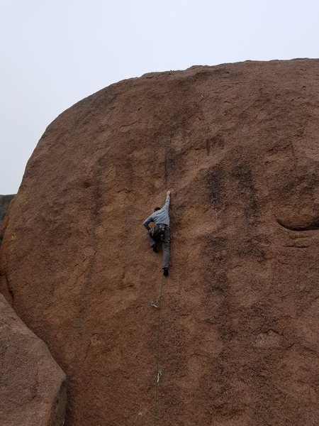 Rock Climbing Photo: Nice day on an amazing route! 3 12 17