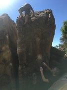 Rock Climbing Photo: Adrian finishing up Johnson Arete
