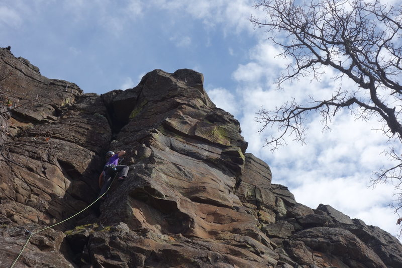 Rock Climbing Photo: Leading Tidewater