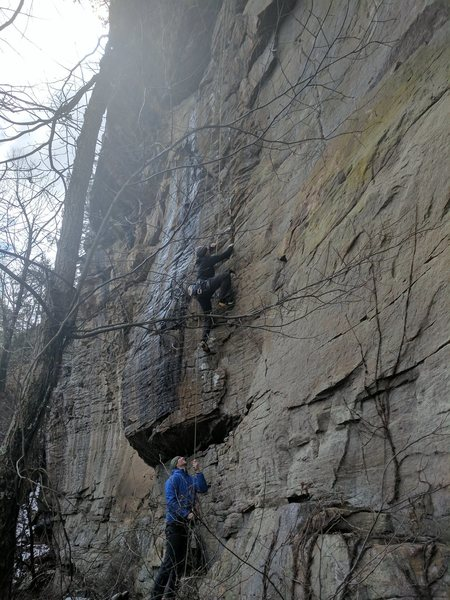 Rock Climbing Photo: Rob works the fun lower section.  You can find the...