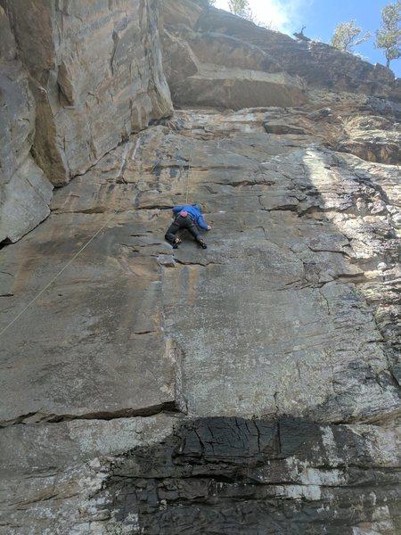 Rock Climbing Photo: Keith moves like a graceful ninja as he traverses ...