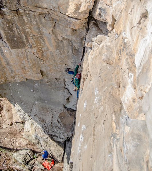 Rock Climbing Photo: I get a drop knee which saved my onsight attempt a...
