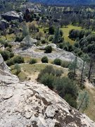 Rock Climbing Photo: This is from the top of the Newt Wall looking sout...