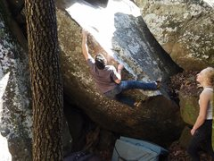 Zane hitting the crux.