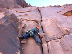Rock Climbing Photo: Optional first pitch (5.10) of Super Natural