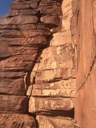 Rock Climbing Photo: A look at the step across variation on the third p...