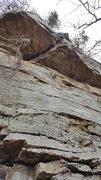 Rock Climbing Photo: Leading Elephant Crack