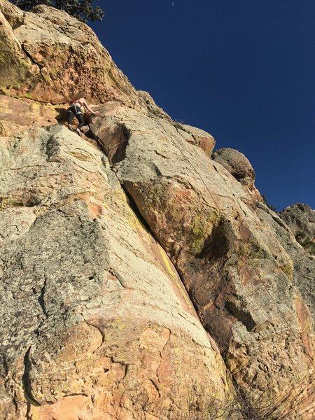 Rock Climbing Photo: Dogleg Crack on toprope.