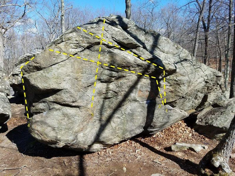 Rock Climbing Photo: Back of the Backside Boulder.