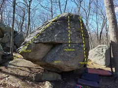 Front prow of the Pedestal boulder.