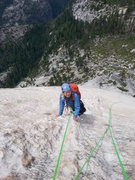 Rock Climbing Photo: Nancy, half way there. No one on the summit that d...