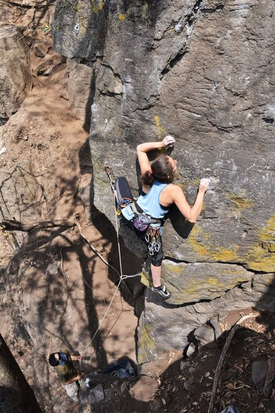 Rock Climbing Photo: Licel Cisneros moving through the cruxy part of th...