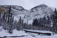 Rock Climbing Photo: A snowy Takakkaw Falls