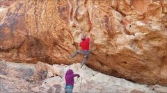 """Rock Climbing Photo: Dave Quinn on the opening moves of """"Holiday 1..."""