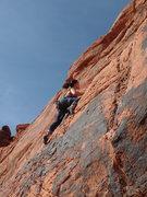 "Rock Climbing Photo: Chloe Quinn enjoying a run on ""Hotel Californ..."