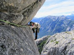 Rock Climbing Photo: Natalie Brechtel turning the airy arete into the c...