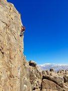 Rock Climbing Photo: Logan doing the Black Hole