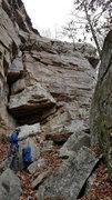 Rock Climbing Photo: Corridor Wall showing Jumpin' Jeff Flash chimn...