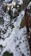 Rock Climbing Photo: Looking down at School Room.
