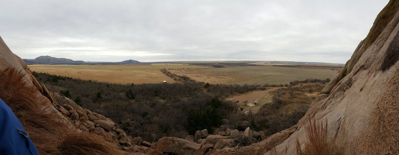 Rock Climbing Photo: Panoramic view from the first pitch of Field Direc...