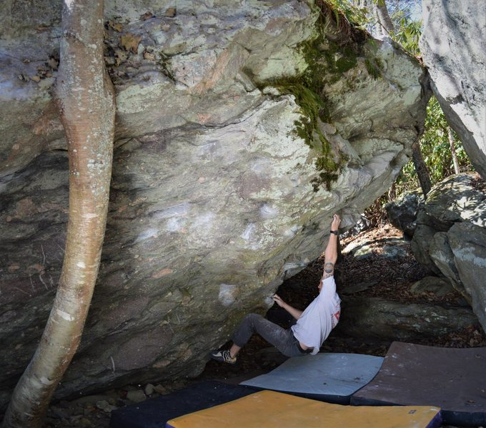 """Rock Climbing Photo: Chris Hare charging into """"Death in the Aftern..."""