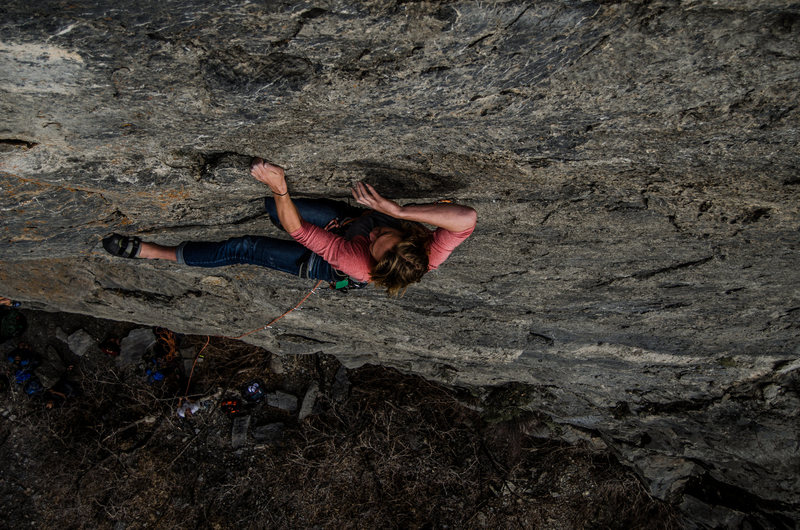 Rock Climbing Photo: Mitch Williams on 'Bosco Loves Barbed Wire&#39...