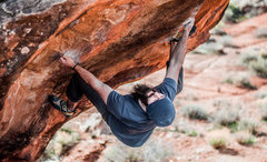 Rock Climbing Photo: Brandon Rogers spreading his wings on 'The Swa...