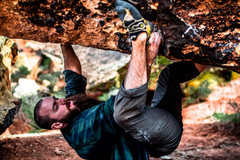 Rock Climbing Photo: Brandon Rogers feeling a bit overwhelmed on 'U...