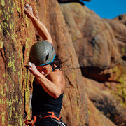 Rock Climbing Photo: Elisha on Slime
