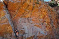 Rock Climbing Photo: Elisha on Aerial