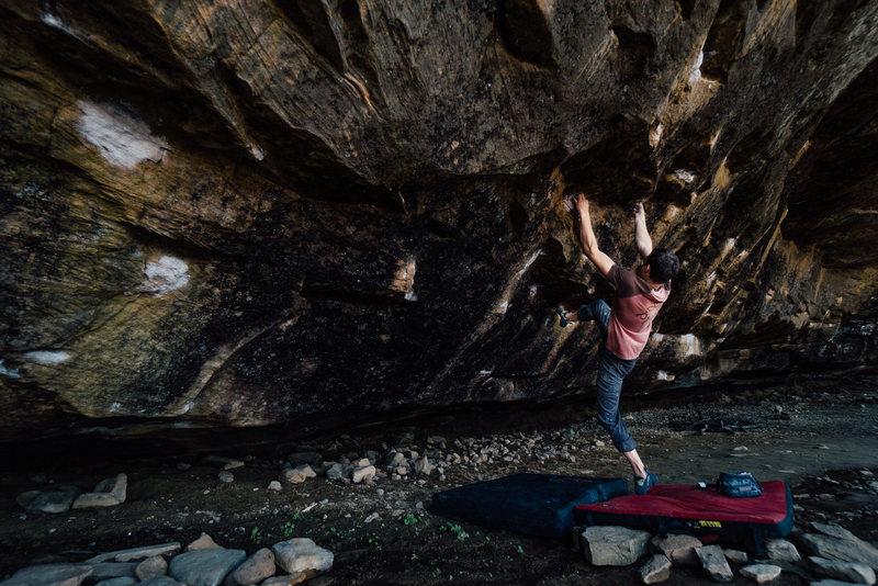 Rock Climbing Photo: Tyler working on Buddy
