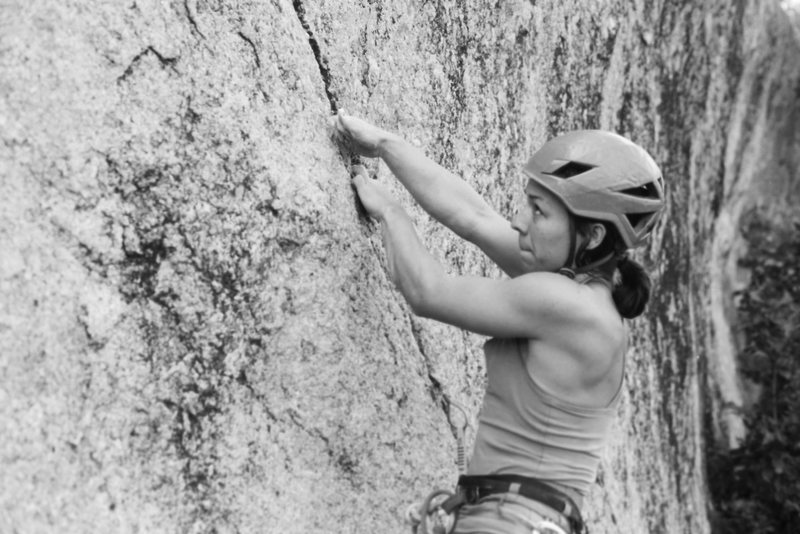 Rock Climbing Photo: Elisha on Spiderman at the 2016 Granite Gripper