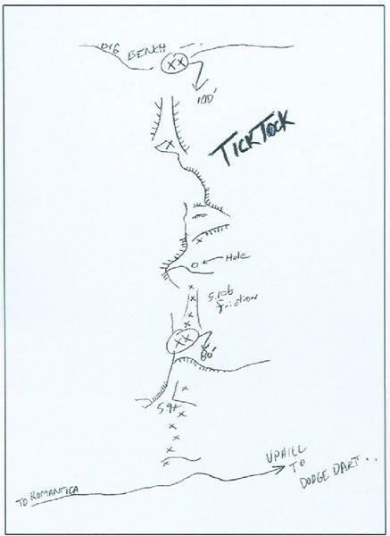 Rock Climbing Photo: TickTock Topo by M. Hanna